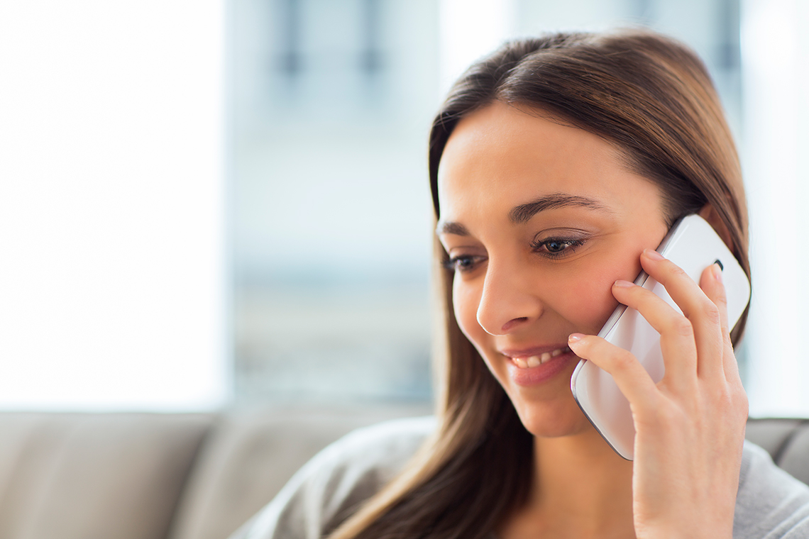 Woman calling to find out more about Dialectical Behavior Therapy